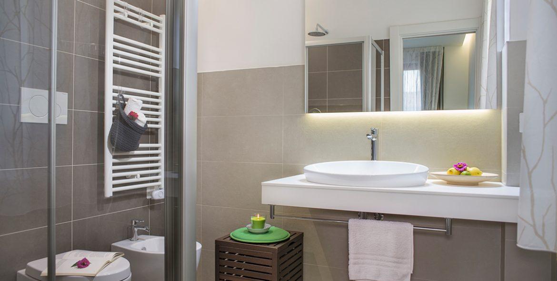 Il bagno della camera junior suite di VivereNumana