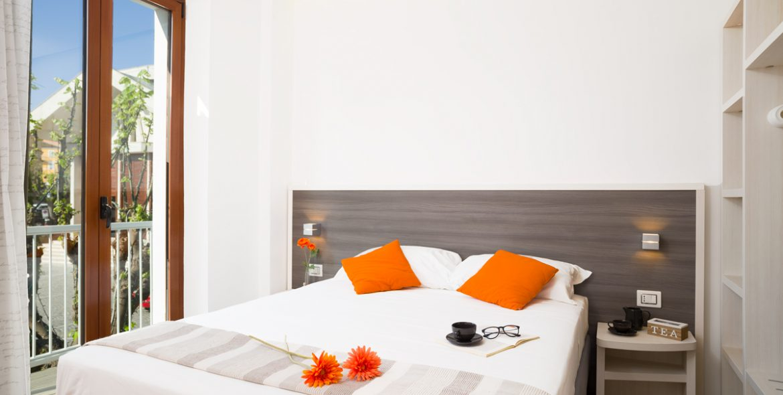 La camera matrimoniale superior con balcone di VivereNumana
