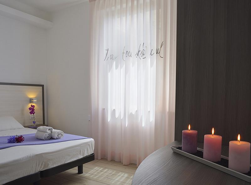 il letto della camera matrimoniale di VivereNumana