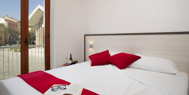 Il letto della camera matrimoniale superio di VivereNumana
