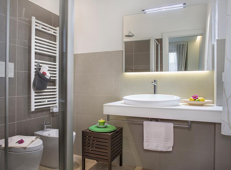 Il bagno della camera quadrupla di VivereNumana